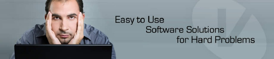 Image with tag line - Easy to Use Software Solutions for Hard Problems